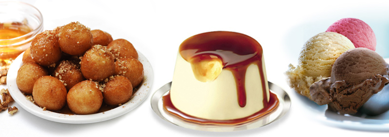 Choose one of our excellent desserts